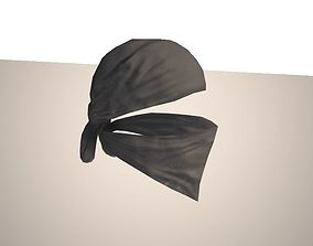Bandana terrorist character mercenary 3D asset game-ready