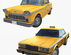 3D model Classic american taxi collection