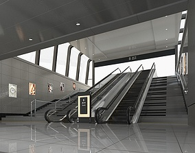 3D model Subway Entrance 2