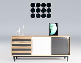 Wood Sideboard 3D