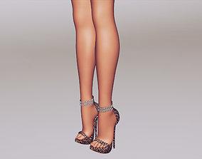 Women Sandal High Heels 3D