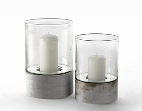 Contemporary Hurricane Candle Holders 3D model