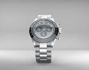 Rolex Daytona white dial render ready ma filefbxmaxfile 3D