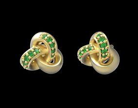 knot earrings 3D printable model