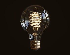 Light bulb edison 3D model PBR