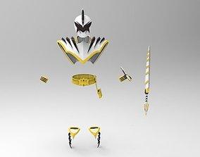 White Ranger Dino Thunder Armor Complete 3D print model 3