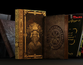 3D model Old Books pack - book old