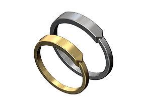 Name Tag Engravable Signet Ring 3D print model