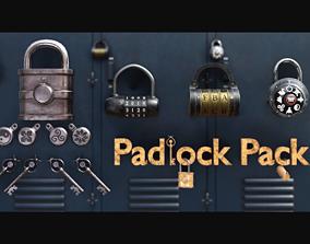 3D asset Padlock Pack - PBR Game Ready