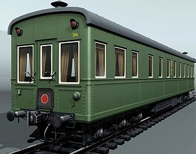 6-axles railcar-salon 3D asset