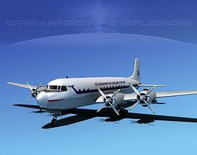 3D Douglas DC-7C Scandinavian