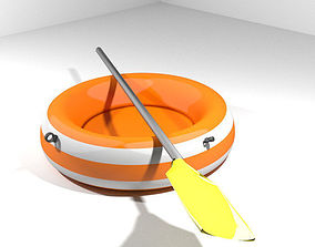 Inflatable row boat - Type 2 3D model