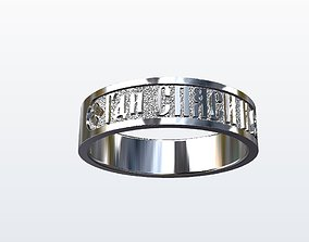 forever 3D print model Men relligious ring