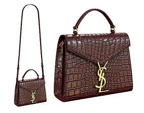 YSL Saint Laurent Cassandra Mini Top Bag Red 3D asset