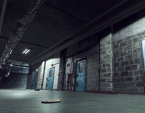 Urban Basement - Lowpoly 3D Model game-ready