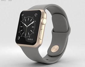 3D Apple Watch Series 2 38mm Gold Aluminum Case Concrete 2