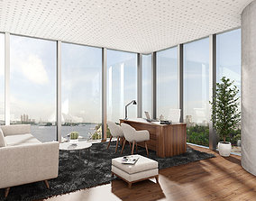 3D model Office Interior Scene 01