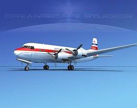 Douglas DC-6 USOA 3D