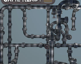 Modular Pipes system -Gameready 3D model