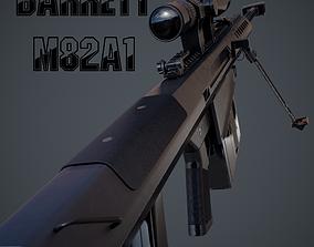3D asset game-ready Barrett M82A1