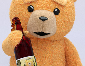 Teddy Bear - Beer for Bears 3D model