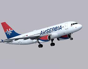 Airbus A319 Air Serbia 3D asset