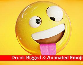 3D asset Animated Drunk Emoji icon