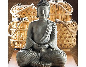 3D model Galan Meditation Buddha Statue
