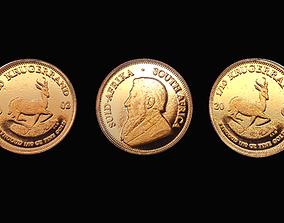 Coin - Krugerrand 3D asset
