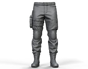 3D model Zbrush Combat Pants High Poly