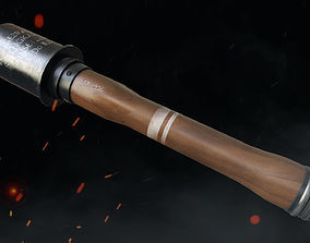 German Stick Grenade 3D asset