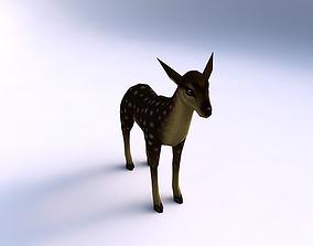 Game ready roe-deer 3D asset