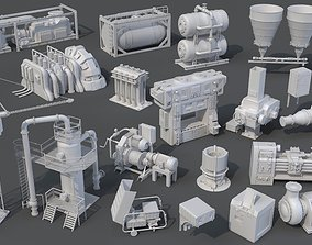 3D model Factory Units 8 - 20 pieces