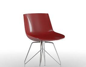 Red Dinner Chair 3D model