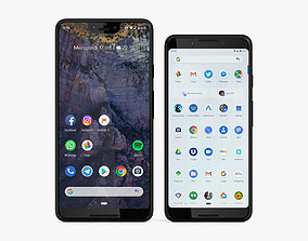 Google Pixel 3 and Pixel 3 XL Black Collection 3D