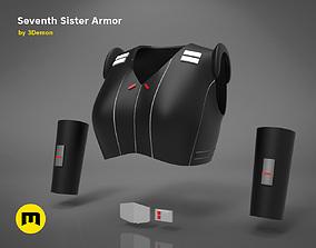 real Seventh Sister Armor 3D printable model