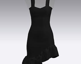 DRESS DRESS 3D model fashion-and-beauty black