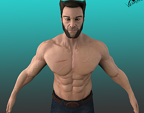 Wolverine 3D model game-ready