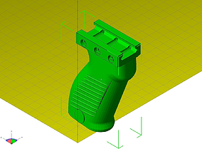 3D print model Front grip for rifle