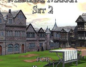 3D model Medieval Market 2 for Poser