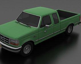 3D model game-ready F-150 Pickup 1992 SuperCab Short Box