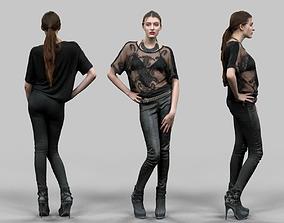 Rockstar in Leather Pants 3D model