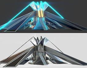 SCI FI Building - PBR Game-Ready 3D model