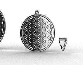 3D model Flower of Life 2 pendants