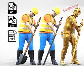 N1 Construction Worker 1 64 Miniature 3D print model 5