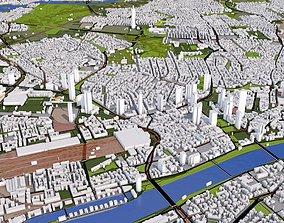 Frankfurt City of Germany 3D asset