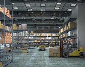 3D animated Warehouse Interior