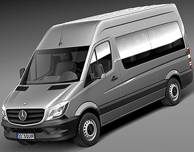 Mercedes-Benz Sprinter Passenger Van 2014 3D model