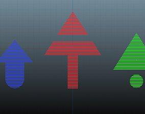 3D asset Low poly arrow 58