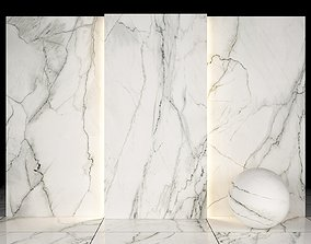3D model Carrara white marble 01